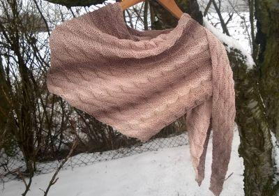 Pletený šátek