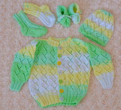 Pletený set pro miminka